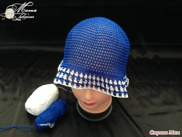 Вязание крючком пляжная шляпа