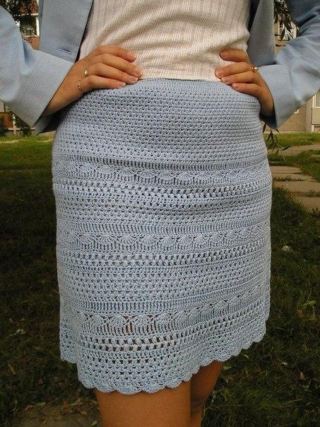 Вязаная юбка крючком (5 фото) - картинка