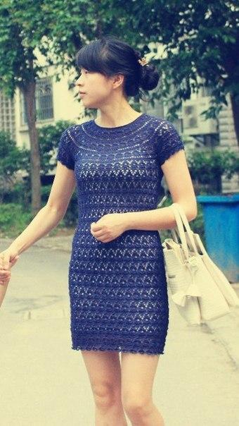 Темно-синее платье (8 фото) - картинка