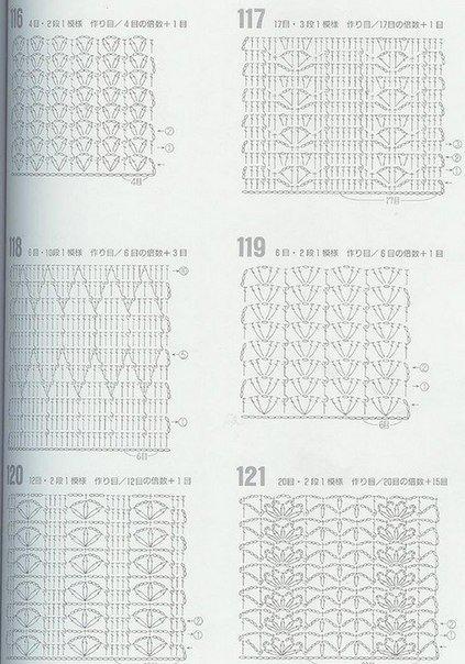 Схемы узоров крючком (2 фото) - картинка