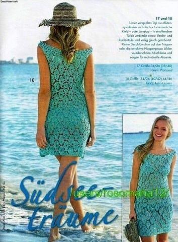 Пляжное платье (3 фото) - картинка