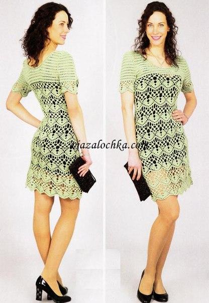 Ажурное платье (3 фото) - картинка