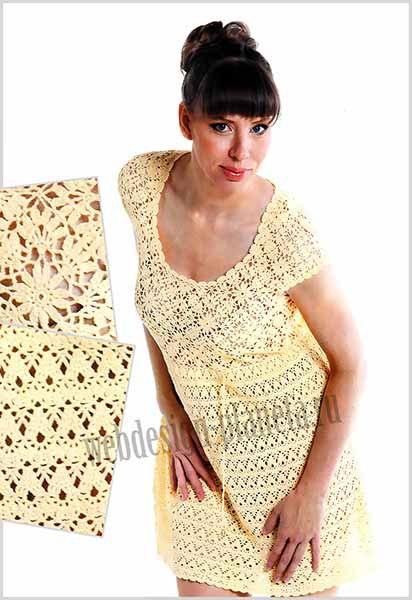 Ажурное летнее платье крючком (6 фото) - картинка