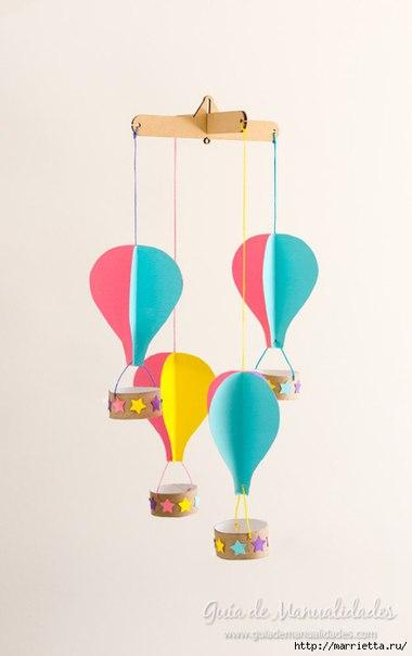Мобиль с воздушными шарами (8 фото)