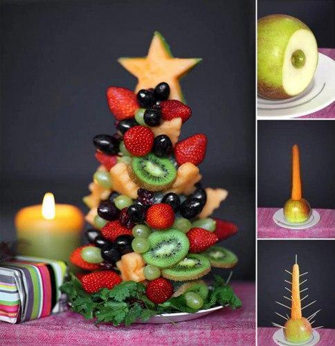 Фруктовая елка на Новый год (1 фото) - картинка