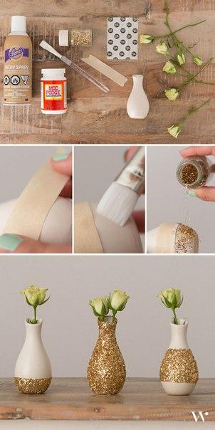 Декорируем вазочки сами (1 фото)