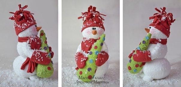 Шьем снеговика. Мастер-класс. (8 фото) - картинка