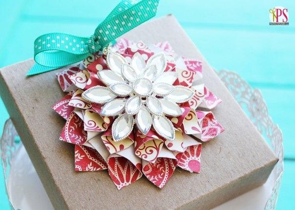 Красивая снежинка для оформления подарков… (9 фото) - картинка