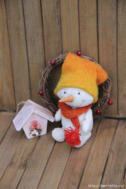 Шьем сами плюшевого снеговика