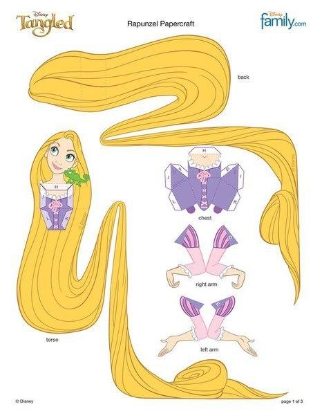 Бумажные куклы. Принцессы Диснея.