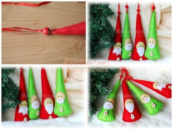 Новогодние игрушки из фетра своими руками…. (6 фото) - картинка