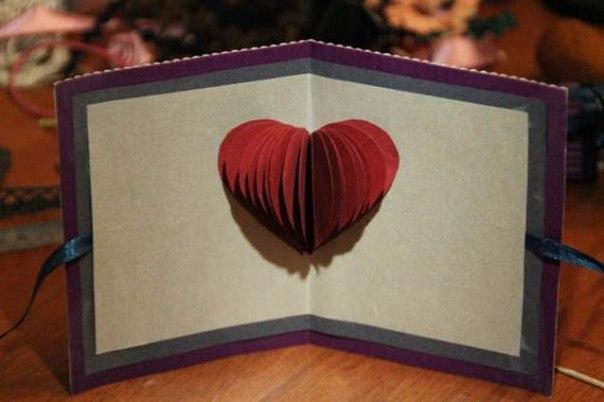 Оригами сердце объемное на день святого валентина