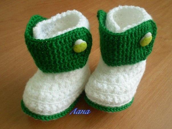 Детские пинетки- ботиночки (3 фото) - картинка
