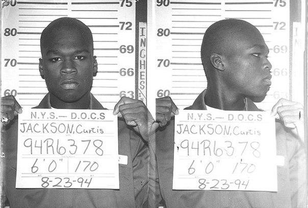 Рэппер 50 Cent, 1994 год. Тогда -19-летний бандит, осужденный за торговлю наркот...