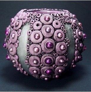 Декор вазочки полимерной глиной (10 фото) - картинка