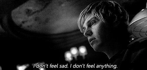 — Я не чувствую грусти. Я вообще ничего не чувствую.