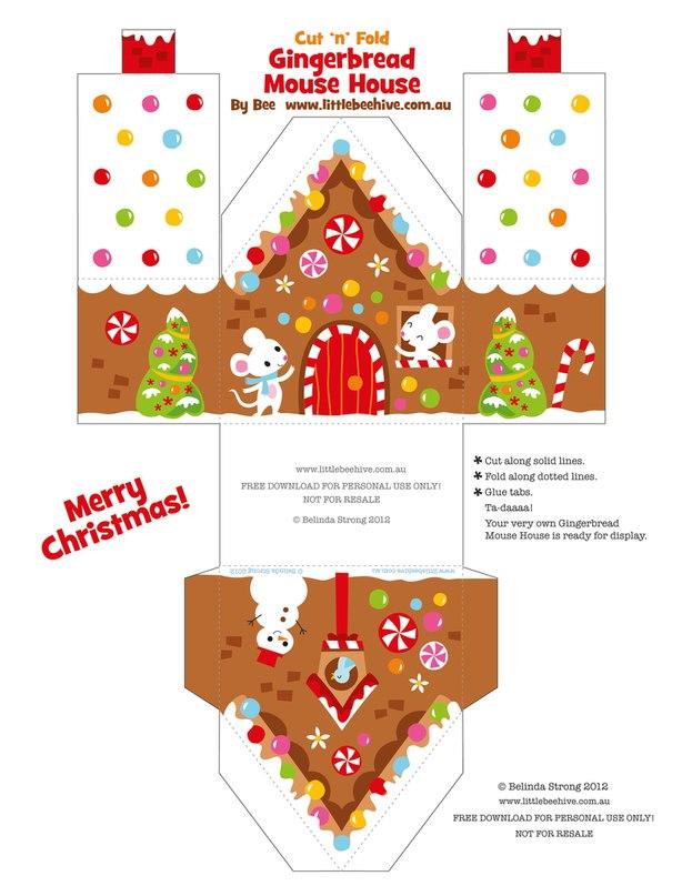 Поделки из бумаги новогодний домик