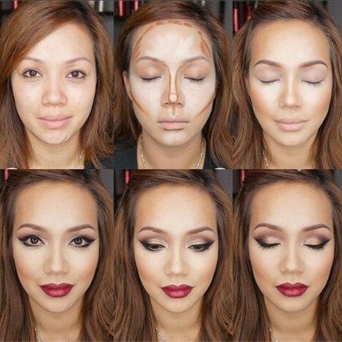 техника нанесения макияжа,