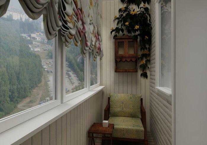 Интерьер лоджии в квартире