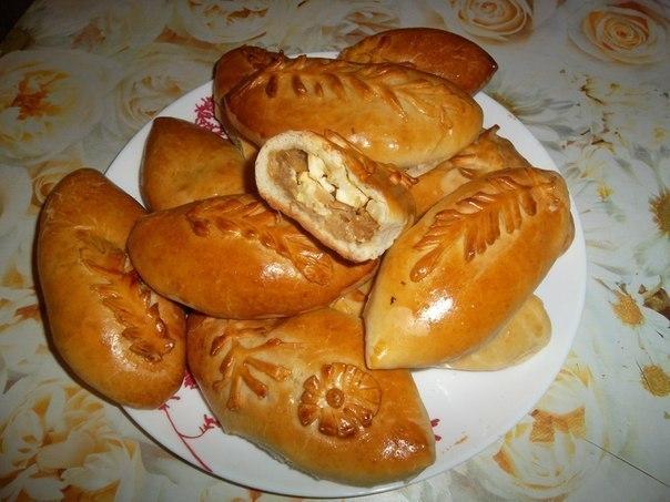 пирожки жареные с капустой и яйцом рецепт