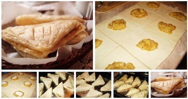 Слоеное тесто бездрожжевое с начинками рецепты с пошагово