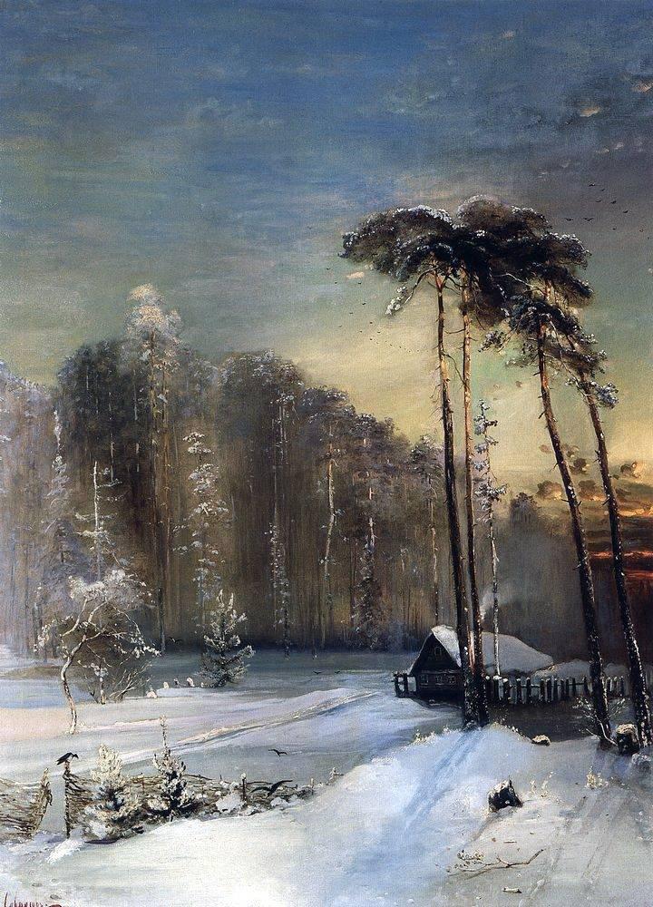 Зимние пейзажи А. К. Саврасова (1830 - 1897) 6ahtgdOZ-eo