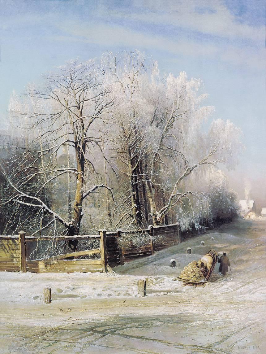Зимние пейзажи А. К. Саврасова (1830 - 1897) PJ5SMFiDpEI