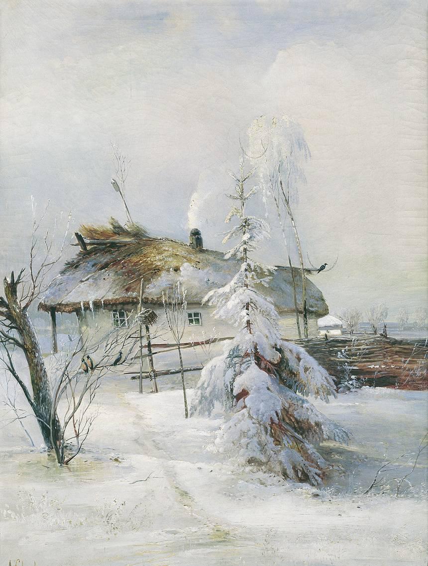 Зимние пейзажи А. К. Саврасова (1830 - 1897) JkRttFj2fmg