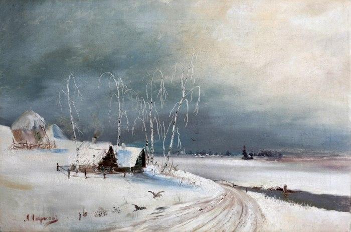 Зимние пейзажи А. К. Саврасова (1830 - 1897) UcFily9-mHI