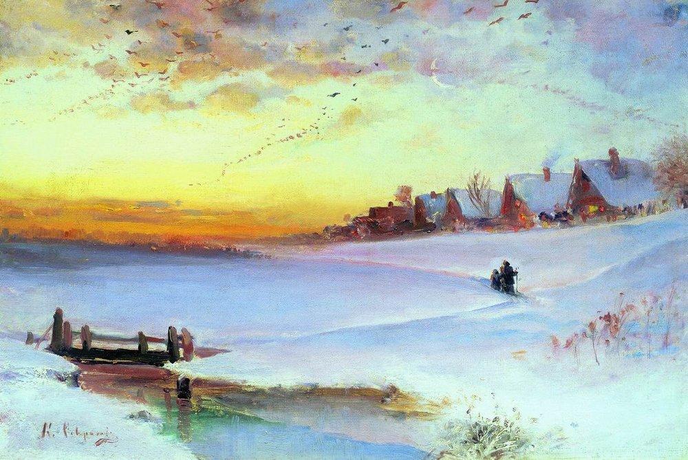 Зимние пейзажи А. К. Саврасова (1830 - 1897) -3SBIy9BDck