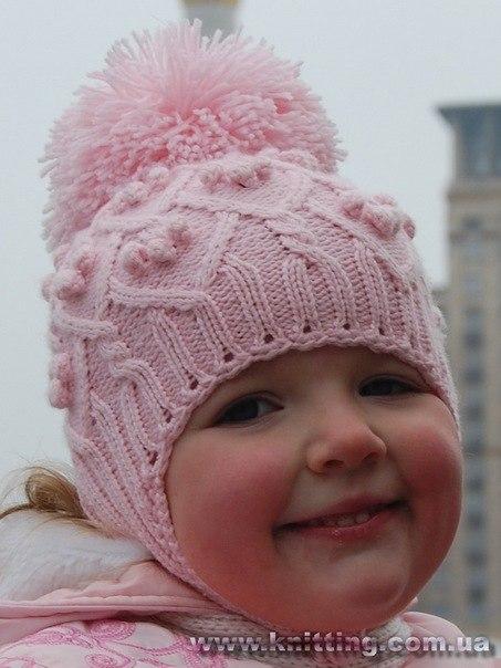 Crossbowkawtaxon Вязаная шапка для девочки-подростка спицами
