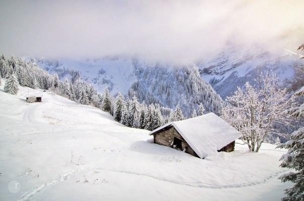 Роман Краля, автор фото: «Белая Лошадь - так почему-то называется это место в Швейцарии, рядом с деревней Ле План-сюр-Бэ. В этот раз белого тут действительно было много, а вот что-нибудь похожее на лошадь на глаза не попалось».