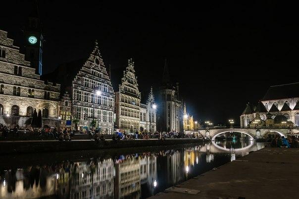 Набережная Граслей в Генте, Бельгия. Автор фото — Алексей Кругленя