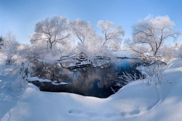 «Хрустальное утро». Река Свислочь, Республика Беларусь. Автор фото — Алексей Угальников