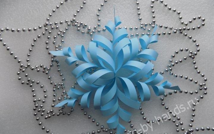 Сделать объемную снежинку своими руками бумаги