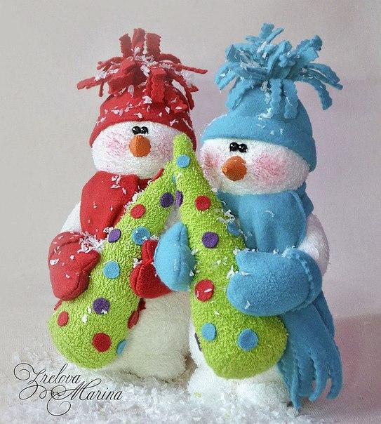 Снеговик из ткани своими руками для детей