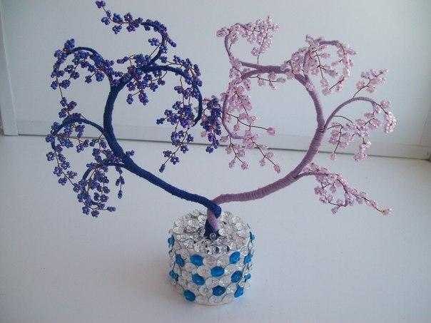 Поделки из бисера цветы и деревья