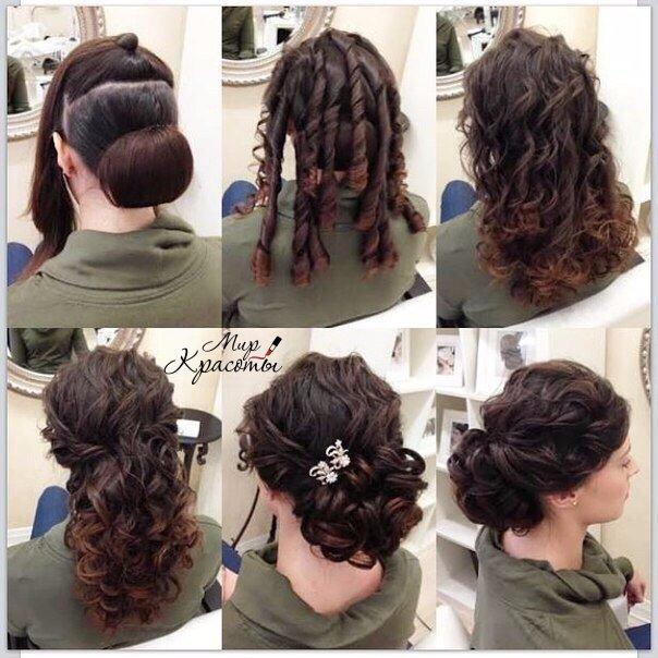 Вечерняя прическа на длинные волосы своими руками пошаговая инструкция фото