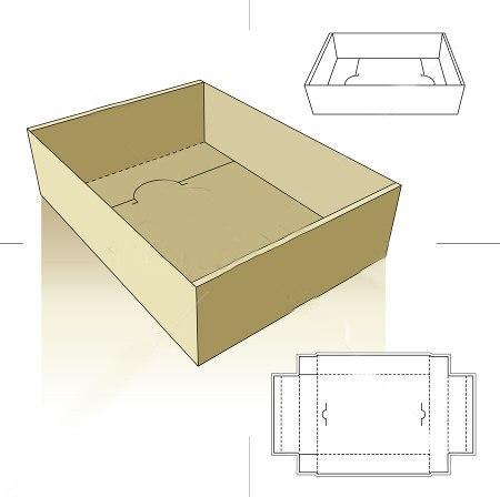 Как сделать прямоугольную коробочку без клея