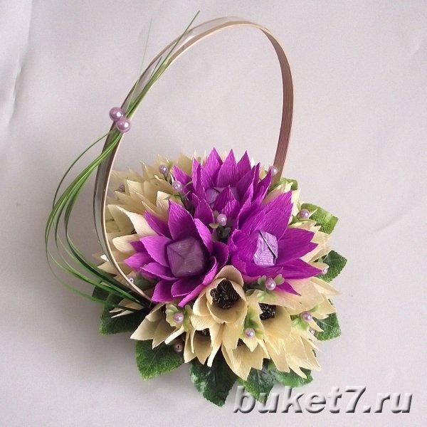 Цветы из конфет (5 фото) - картинка
