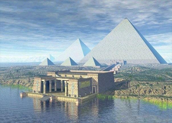 Сверкающие пирамиды  Многие египетские пирамиды