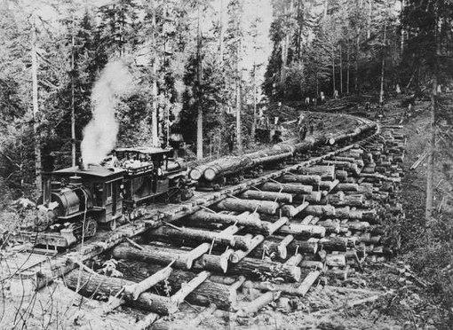 Железнодорожные мосты из бревен