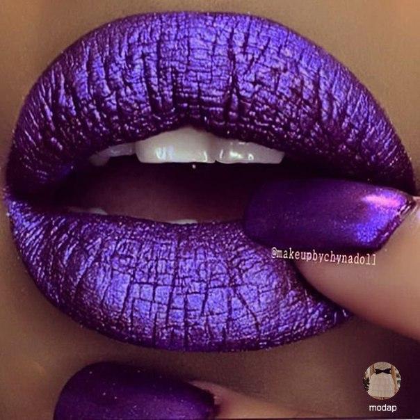 Обалденный макияж губ (6 фото) - картинка