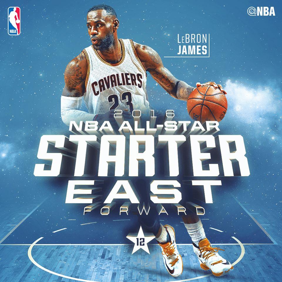 Леброн на матче Всех Звезд НБА 2016