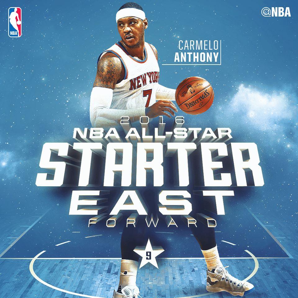 Кармело на матче Всех Звезд НБА 2016
