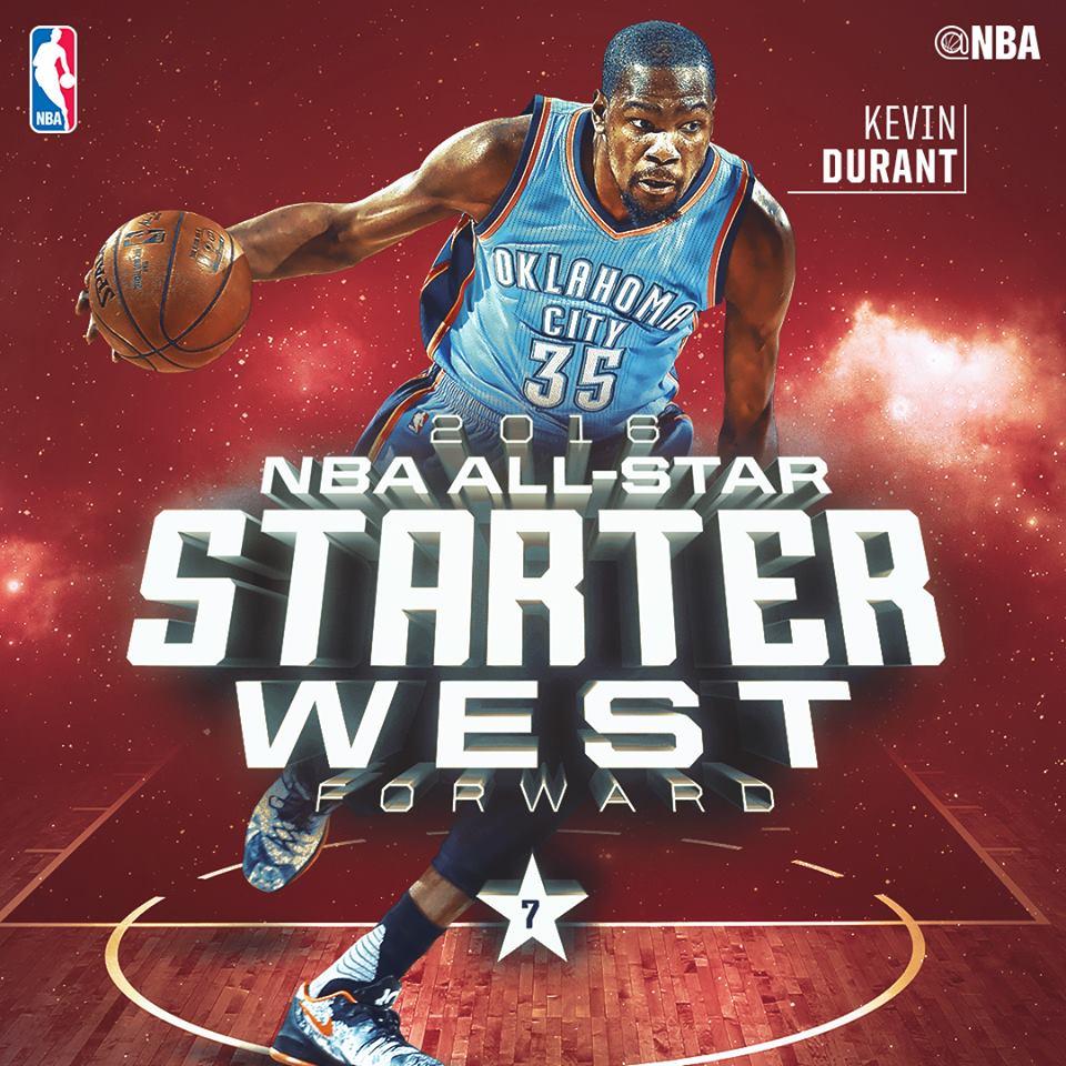 Дюрант на матче Всех Звезд НБА 2016