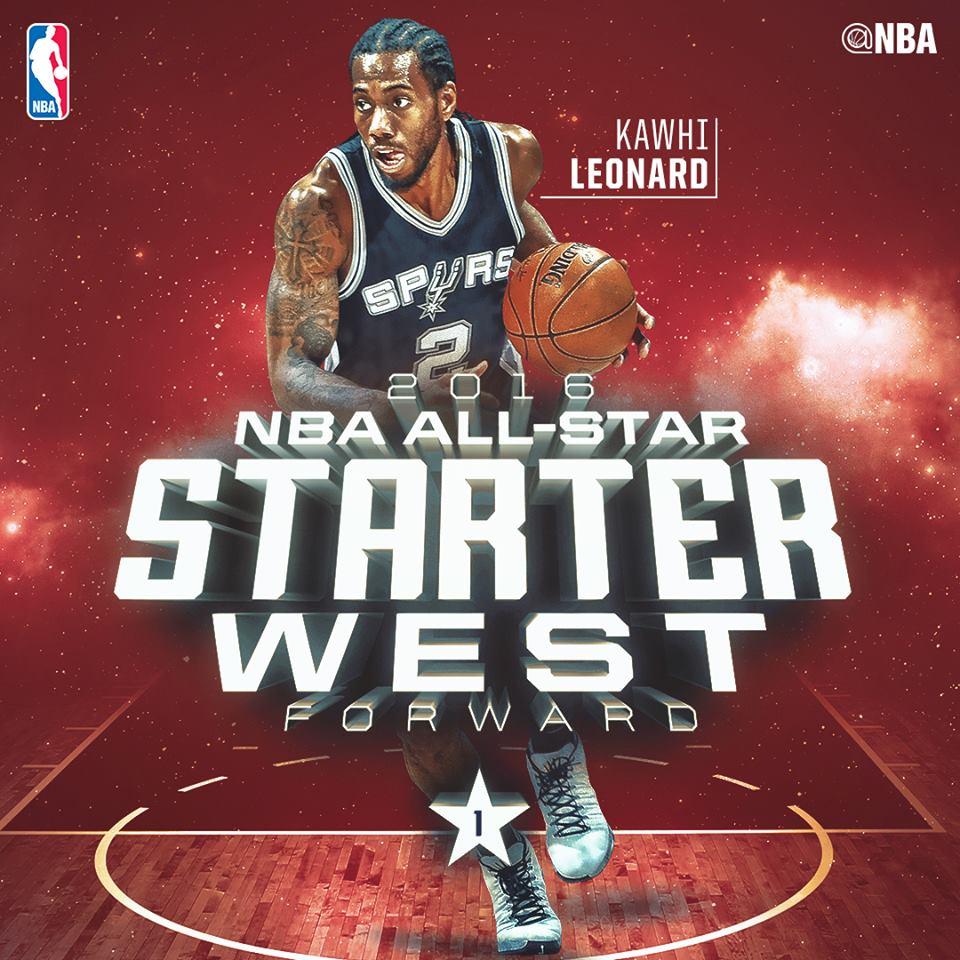 Кавай Леонард на матче Всех Звезд НБА 2016