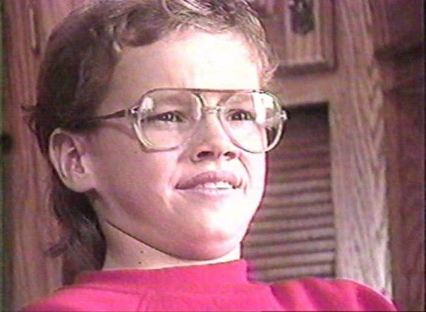 Если у тебя будет плохой день, просто вспомни, как выглядел Мэтт Дэймон в 12 лет
