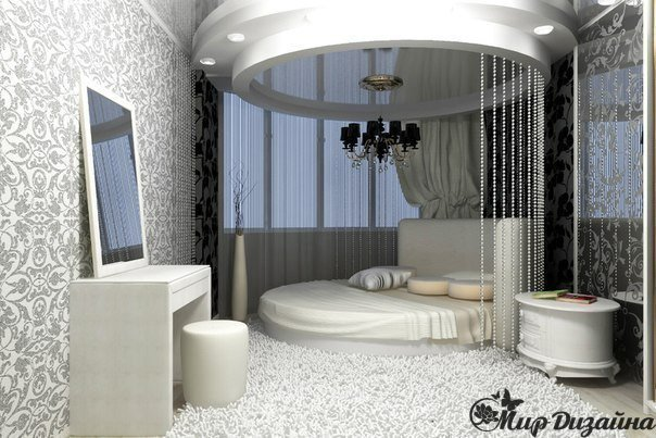 Необыкновенная спальня (1 фото) - картинка