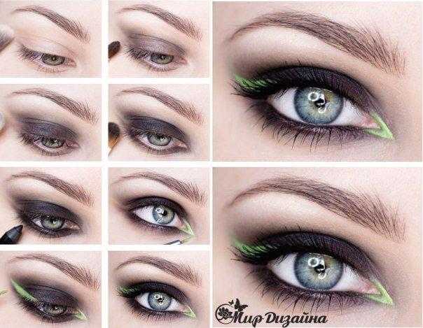 Красивый макияж для выразительного взгляда… (1 фото) - картинка